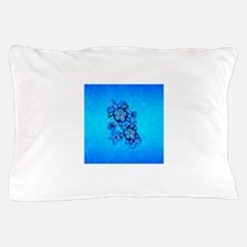 Blue Hawaiian Honu Turtles Pillow Case