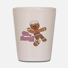 funny cute oh snap gingerbread man Shot Glass