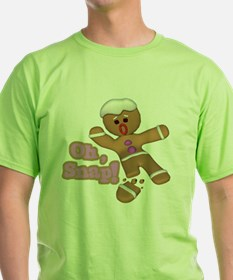 funny cute oh snap gingerbread man T-Shirt