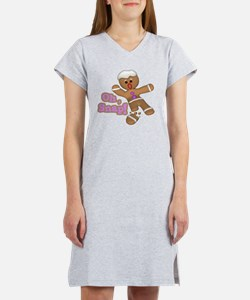 funny cute oh snap gingerbread  Women's Nightshirt