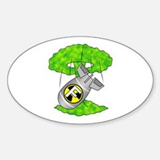 "Nuclear ""F"" Bomb Sticker (Oval)"