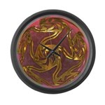 Faberge's Jewels -Red Large Wall Clock