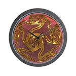 Faberge's Jewels -Red Wall Clock