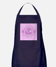 70th Birthday For Mom (Floral) Apron (dark)
