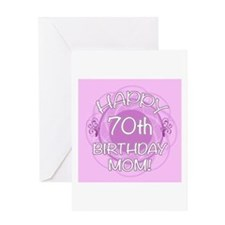 70th Birthday For Mom (Floral) Greeting Card