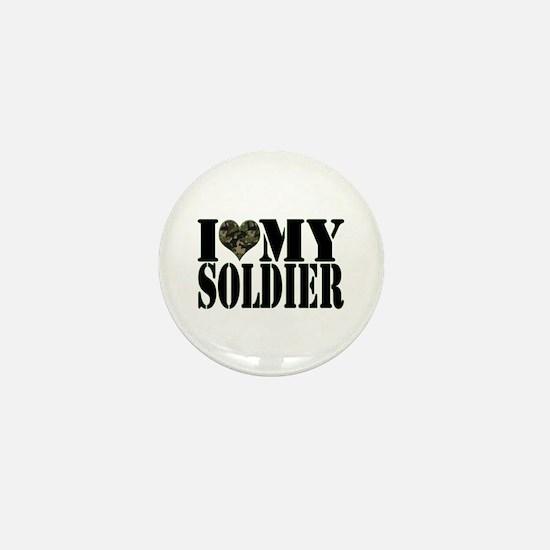 I Love My Soldier Mini Button