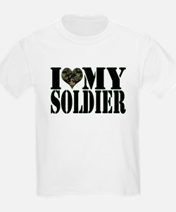 I Love My Soldier Kids T-Shirt