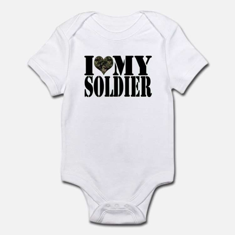 I Love My Soldier Infant Creeper
