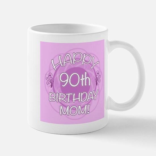 90th Birthday For Mom (Floral) Mug