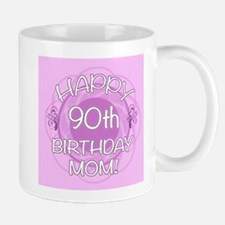 90th Birthday For Mom (Floral) Small Small Mug
