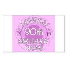 90th Birthday For Mom (Floral) Decal