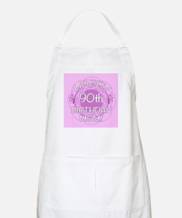 90th Birthday For Mom (Floral) Apron