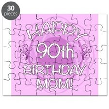 90th Birthday For Mom (Floral) Puzzle