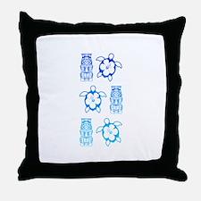 BlueHonuTikiTee Throw Pillow