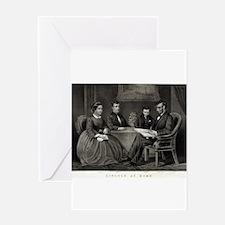 Lincoln at home - 1867 Greeting Card