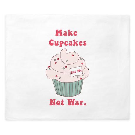 Make Cupcakes Not War King Duvet