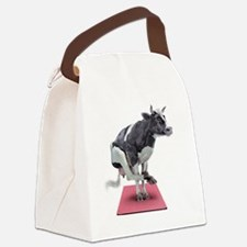 Cow-Pilates~ Moo Canvas Lunch Bag