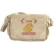 I Love Hamsters Messenger Bag