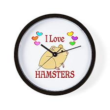 I Love Hamsters Wall Clock
