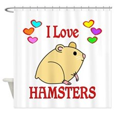 I Love Hamsters Shower Curtain