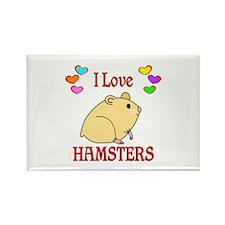 I Love Hamsters Rectangle Magnet