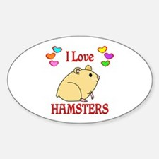 I Love Hamsters Decal