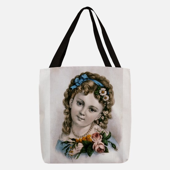 Little flower girl - 1856 Polyester Tote Bag