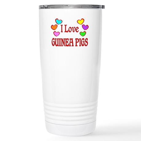 I Love Guinea Pigs Stainless Steel Travel Mug