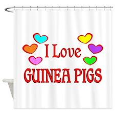 I Love Guinea Pigs Shower Curtain