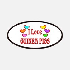 I Love Guinea Pigs Patches