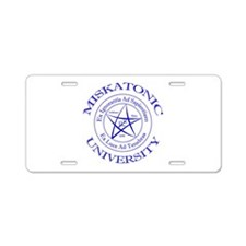 Miskatonic University Aluminum License Plate