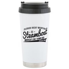 Steamboat Vintage Black Travel Mug