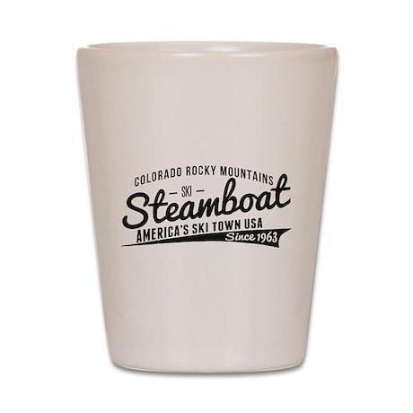 Steamboat Vintage Black Shot Glass