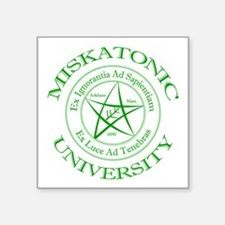 "Miskatonic University Square Sticker 3"" x 3"""