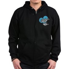 Dolphins (blue) Zip Hoody