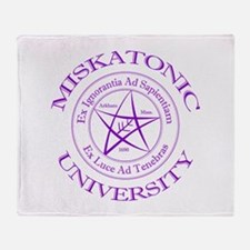 Miskatonic University Throw Blanket