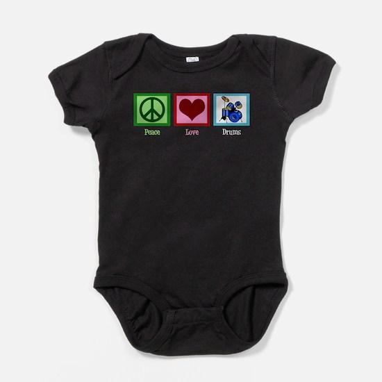 Peace Love Drums Baby Bodysuit