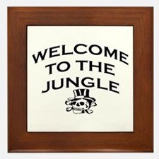 WELCOME TO THE JUNGLE Framed Tile