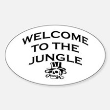 WELCOME TO THE JUNGLE Sticker (Oval)