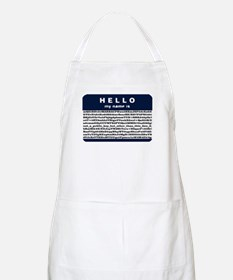 Hello, my name is encrypted. BBQ Apron