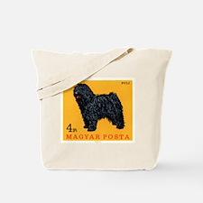 Vintage 1967 Hungary Puli Dog Postage Stamp Tote B
