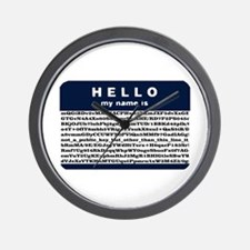 Hello, my name is encrypted. Wall Clock