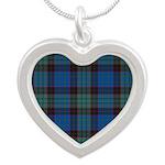 Tartan - Stewart Silver Heart Necklace