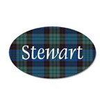 Tartan - Stewart 20x12 Oval Wall Decal