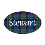 Tartan - Stewart 35x21 Oval Wall Decal
