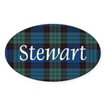 Tartan - Stewart Sticker (Oval)