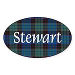 Tartan - Stewart Sticker (Oval 10 pk)