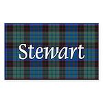Tartan - Stewart Sticker (Rectangle 10 pk)