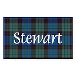 Tartan - Stewart Sticker (Rectangle 50 pk)