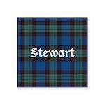 Tartan - Stewart Square Sticker 3